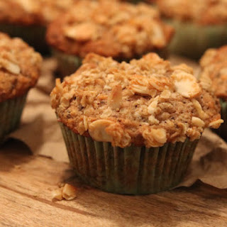Apple-n-Carrot Cinnamon Spiced Muffins with Almonds & Oats