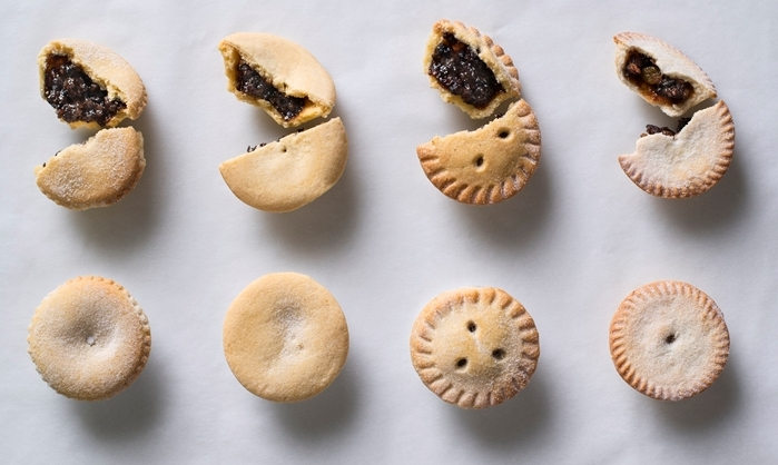 Christmas mince pies from left: SPAR, Checkers, Pick n Pay, Woolworths.