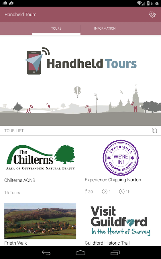 Handheld Tours- screenshot