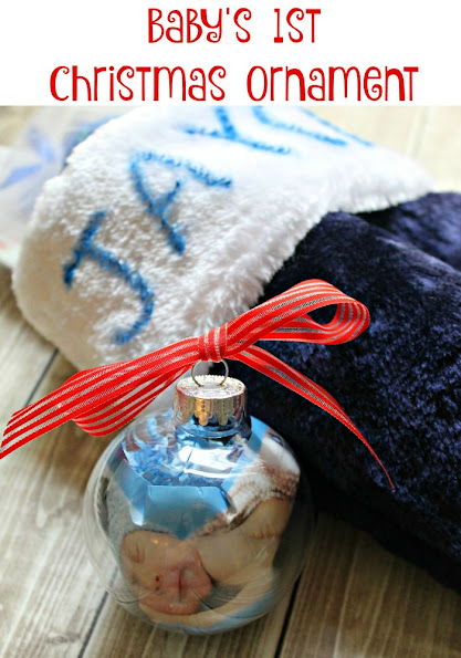 Easy DIY Baby's First Christmas ornament + Christmas Stocking Ideas for Baby