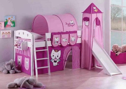 女の子のベッドルームのデザインのアイデア