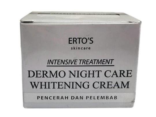 Cream Malam Ertos night cream wajah mengatasi kerutan jerawat flek mengecilkan pori angkat komedo