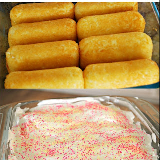No Bake Twinkies Cake for Spring.
