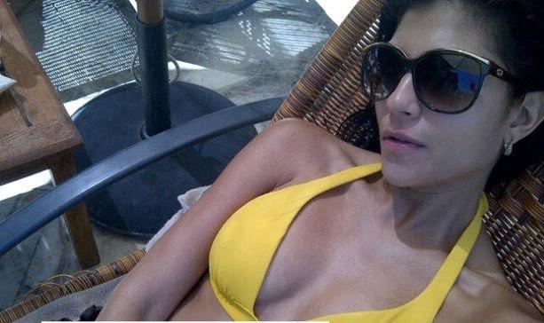 Archana Vijaya in yellow bikini