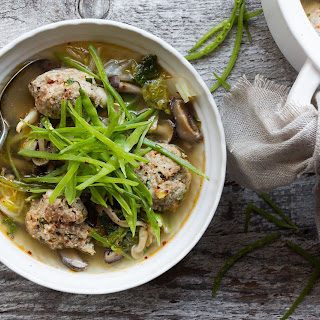 Turkey Ginger Meatballs In Shiitake Mushroom Broth