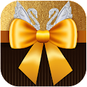 Valentine Gold Bow Diamond icon