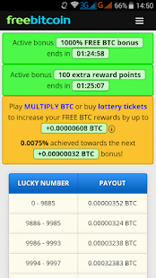 FreeBitcoin Faucet - náhled
