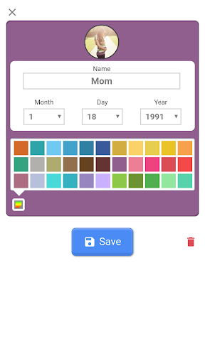 Screenshot for Birthday Countdown in United States Play Store