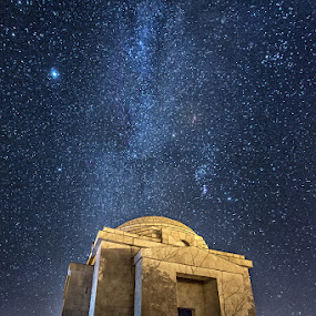 Mestrovic Mausoleum by Zeljko Marcina - Landscapes Starscapes ( mestrovic, sky, mausoleum, croatia, night, milky way, otavice,  )