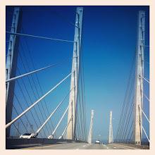Photo: Pitt River bridge #intercer #bridge #architecture #water #river #blue #sky #nature #instanature #cars #beautiful #pretty #street #city #scene #scenery - via Instagram, http://instagr.am/p/OPTxBApfkP/