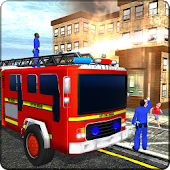 Fire truck Simulator, Impossible Metro City Rescue