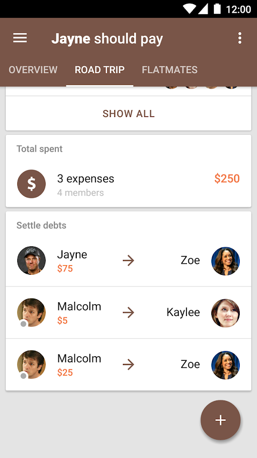 Settle Up - Group Expenses- screenshot