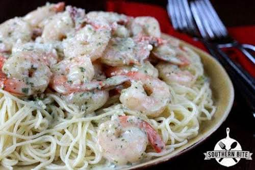 "Pesto Shrimp Pasta ""Y'all, this dish is super-simple and can be on..."