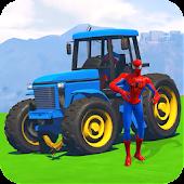 Tải Superheroes Tractor Stunt Racing Games miễn phí