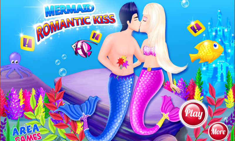 android Mermaid Romantischer Kuss Screenshot 8
