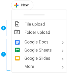 Upload or create items in Drive