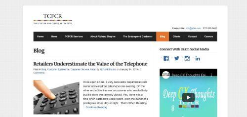 A screenshot of @TCFCR's blog