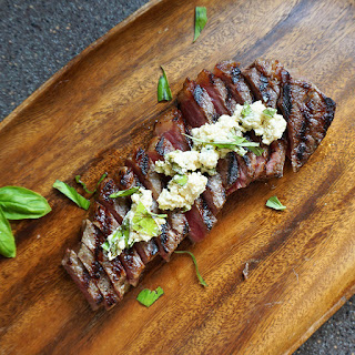 Pan-seared New York strip steak