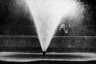 Photo: Evening in the park A young family watches the fountain spray - Clinton, MA  For #365project curated by +Simon Kitcher+Patricia dos Santos Patonand +Vesna Krnjic