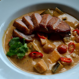 Red Thai Curry with Duck and Persimmon