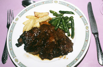 Photo: 10980 上海/紅房子西菜館/料理/肉/沙朗牛排/サーロインステーキ