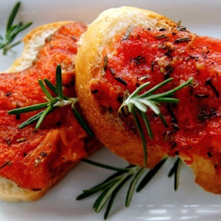 Tomato-Rosemary Confit Croustades.