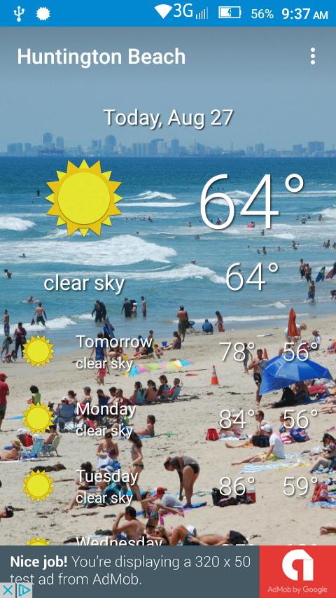 Huntington Beach California Weather In August