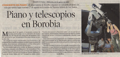 Photo: concierto de piano  observatorio astronómico de Borobia Soria España
