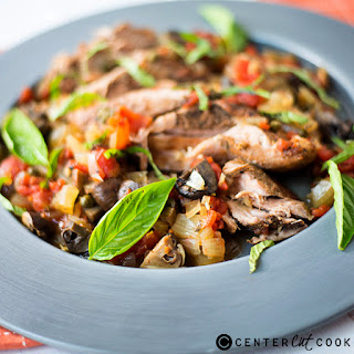 Slow Cooker Pork Tenderloin Cacciatore