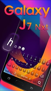 Smart j Galaxy Keyboard theme - náhled