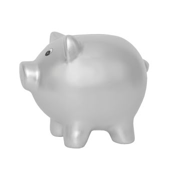 Money box pig silver