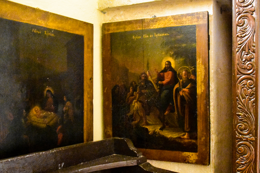 Русские иконы в монастыре Георгия Хозевита.