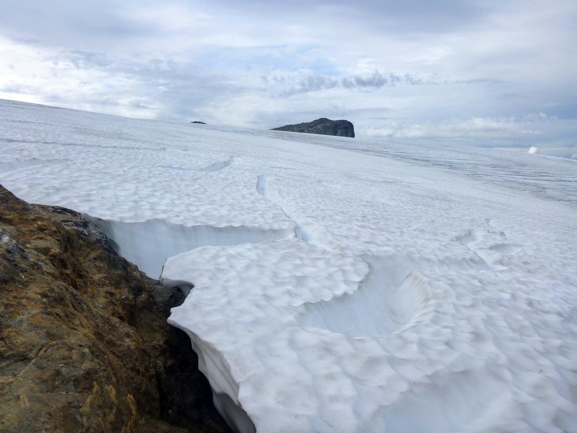 Mt. Arthur Evans behind Comox Glacier