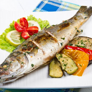Whole Grilled Bass with Fennel and Orange Basil Vinaigrette