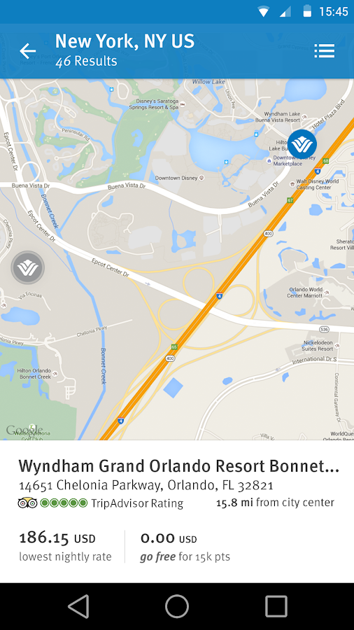 Wyndham Rewards- screenshot
