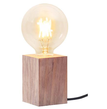LYS Lampfot i trä E27 Brun