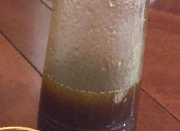 combine all of the ingredients in a bottle to make the Balsamic vinaigrette. Shake...