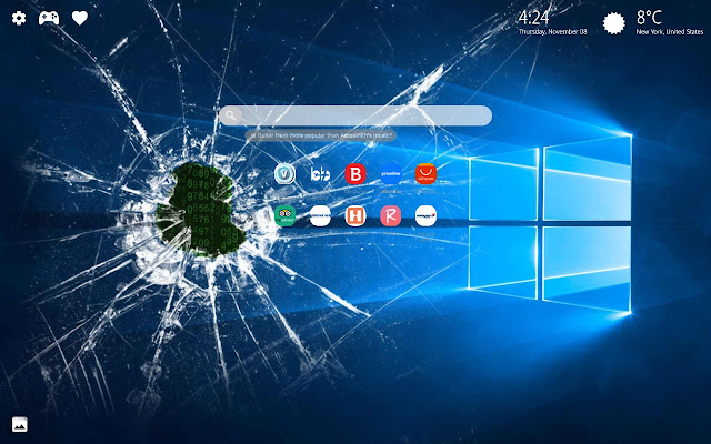 Broken Screen New Tab Wallpaper Hd