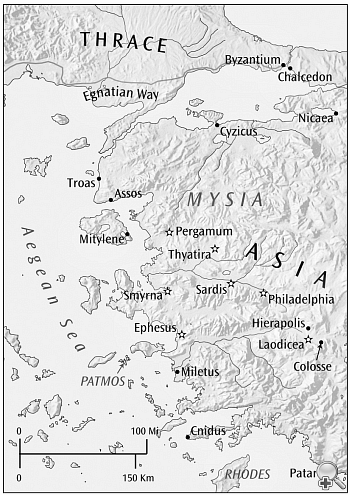 Map of Churches of the Revelation of John