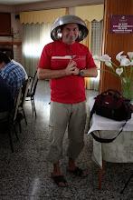 Photo: Nuevo casco presentado por Ángel para protegerse de los rayos cósmicos.