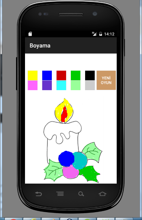5 years old coloring game screenshot - Color Games For 3 Year Olds
