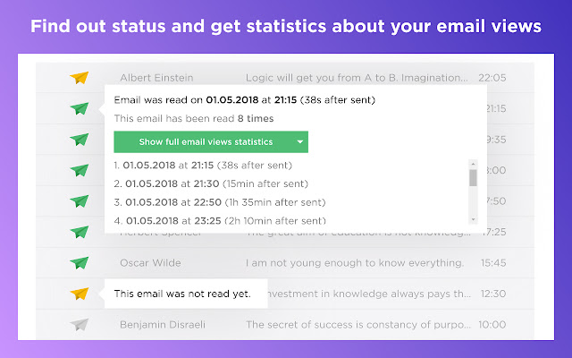 PostTrack allows to know if someone read your email Gmail