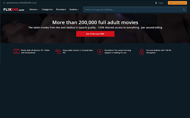 FLIXONE.com offers hassle free adult movies