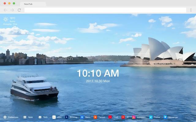 Sydney Opera House HD New Tabs Theme
