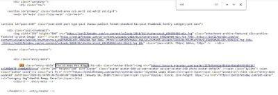 Highlighting h1 tag in the source code of a post