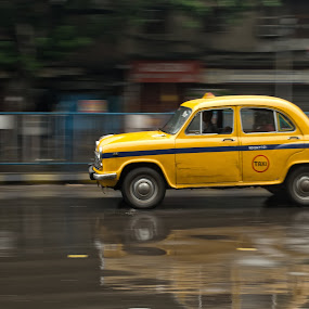 Taxi by Soumyadip Maity - Transportation Automobiles ( cab, taxi, kolkata, india, motion, bengal )