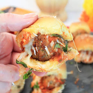 Easy Meatball Sliders.