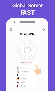 VPN Free - SharpVpn Hotspot VPN & Private Browser