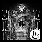 Dark Black Skull Keyboard Theme Android APK Download Free By Fashion Cute Emoji