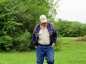 Photo: Dennis Cranston coming to check on the track.   HALS Work Day 2015-0411 RPW